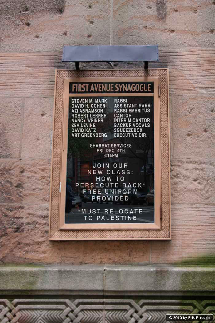 persecute back synagogue palestinians