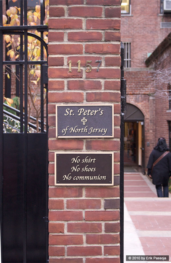 St. Peter's church sign communion
