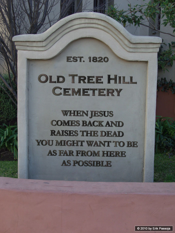jesus raise the dead cemetary sign