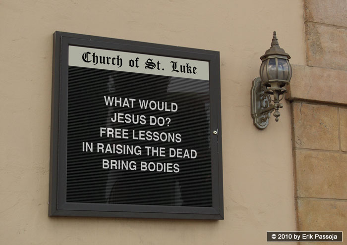 jesus raise the dead church sign