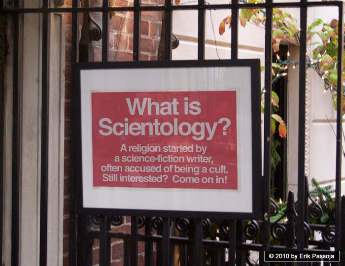 Scientology cult sign
