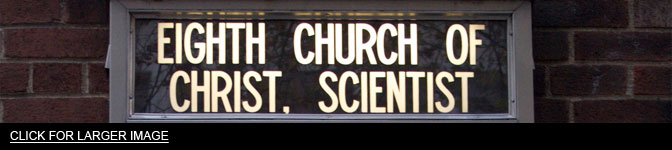 Church of Christ Scientist church sign