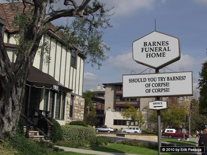 funeral home sign corpse