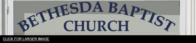 baptism flood church sign