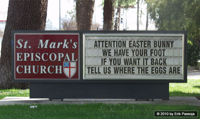easter bunny church sign