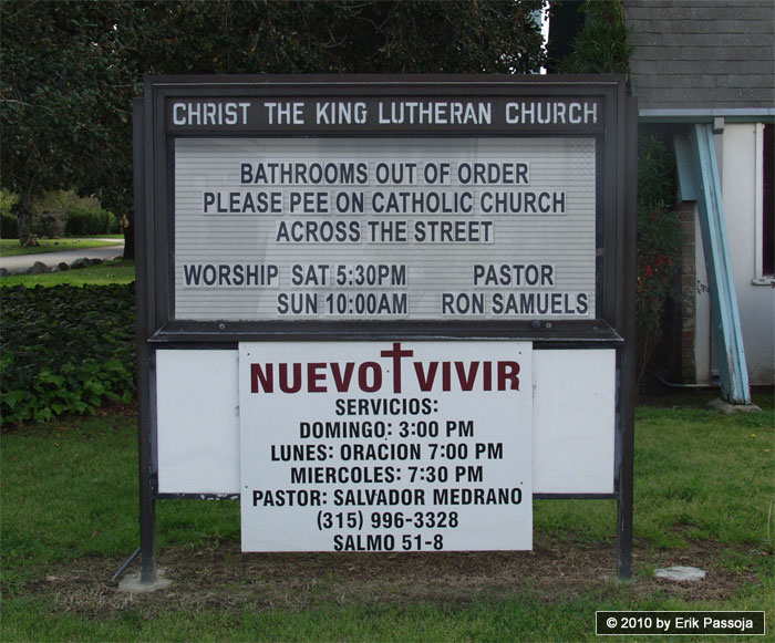 Lutheran church sign